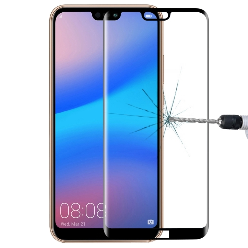 For Huawei P20 Lite 0.3mm 9H Surface Hardness 3D Full Screen Tempered Glass Film