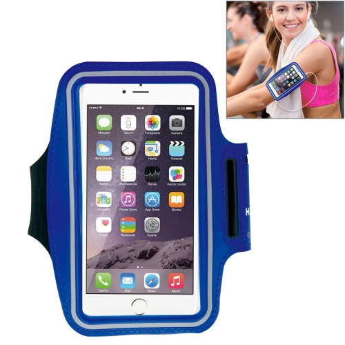HAWEEL Sport Armband Case with Earphone Hole & Key Pocket, For iPhone XS, iPhone XS Max, iPhone X, iPhone 8 Plus & 7 Plus, iPhone 6 Plus, Galaxy S9+ / S8+ / S6 / S5(Dark Blue)