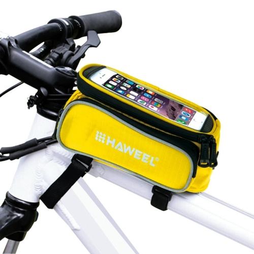 [US Stock] HAWEEL Bicycle Double Frame Touch Screen Phone Bag for iPhone 7 Plus / iPhone 7 / iPhone 6 & 6 Plus / iPhone 6s & 6s Plus(Yellow)