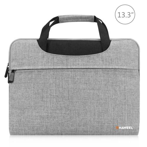 HAWEEL 13.3 inch Laptop Handbag, For Macbook, Samsung, Lenovo, Sony, DELL Alienware, CHUWI, ASUS, HP, 13.3 inch and Below Laptops(Grey)