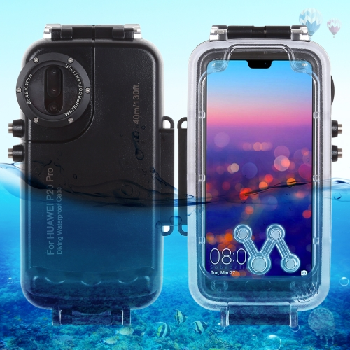 HAWEEL 40m/130ft Waterproof Diving Housing Photo Video Taking Underwater Cover Case for Huawei P20 Pro(Black)