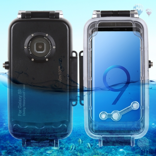 HAWEEL 40m/130ft Waterproof Diving Housing Photo Video Taking Underwater Cover Case for Galaxy S9, Only Support Android 8.0.0 or below(Black)
