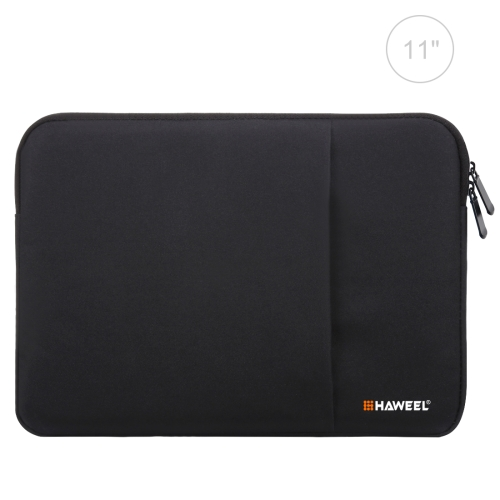 HAWEEL 11 inch Sleeve Case Zipper Briefcase Carrying Bag, For Macbook, Samsung, Lenovo, Sony, DELL Alienware, CHUWI, ASUS, HP, 11 inch and Below Laptops / Tablets(Black)