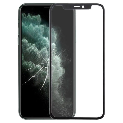 Front Screen Outer Glass Lens + OCA Optically Clear Adhesive for iPhone 11 Pro Max (Black) фото