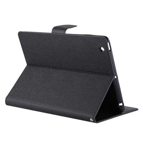 MERCURY GOOSPERY FANCY DIARY for iPad 4 / 3 / 2 Cross Texture Leather Case with Holder & Card slots & Wallet (Black) 1pcs lot battery holder box case 3x aa 4 5v with switch