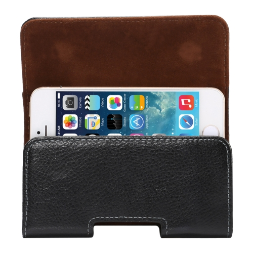 Buy 4 inch Litchi Texture Vertical Flip Thwartwise Genuine Leather Case / Waist Bag with Rotatable Back Splint for iPhone SE & 5s & 5 & 4S, etc for $4.01 in SUNSKY store