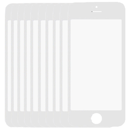 10 PCS for iPhone 5 & 5S Front Screen Outer Glass Lens(White)