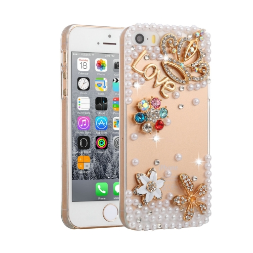 Buy Fevelove for iPhone SE & 5s & 5 Diamond Encrusted Bling Crown Pattern PC Protective Case Back Cover for $3.46 in SUNSKY store