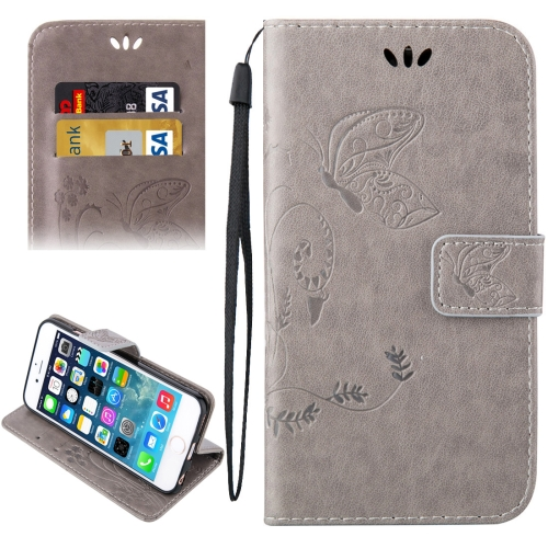 Buy For iPhone 5 & 5s & SE Crazy Horse Texture Printing Horizontal Flip Leather Case with Holder & Card Slots & Wallet & Lanyard, Grey for $2.32 in SUNSKY store