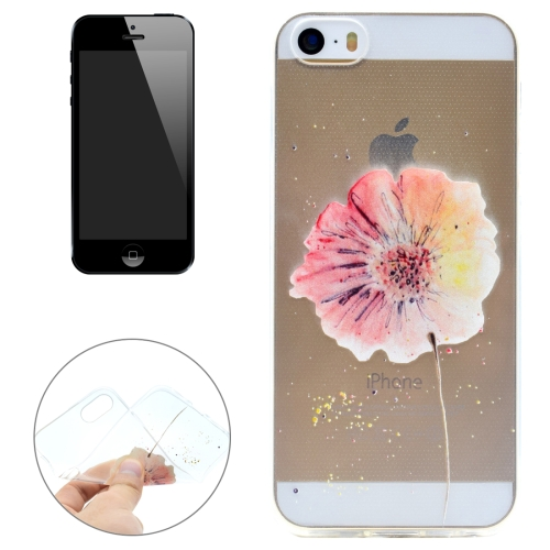 Buy For iPhone 5 & 5s & SE Flower Pattern Transparent Soft TPU Protective Back Cover Case for $1.16 in SUNSKY store