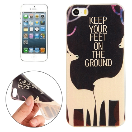 Buy For iPhone 5 & 5s & SE Sika Deer Words Pattern TPU Protective Case for $1.00 in SUNSKY store