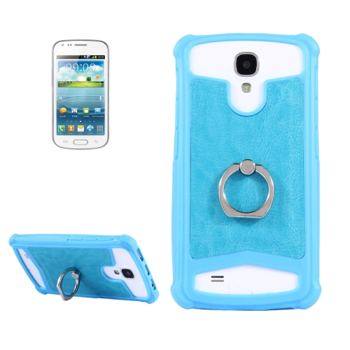 Buy 4.0-4.2 inch Universal Crazy Horse Texture PU Leather + Silicone Protective Case with Holder for Sony, Lenovo, huawei, Nokia, Elephone, Vkworld, Leagoo, IPRO and other Smartphones, Size: 13.6x7.3x1cm, Blue for $1.00 in SUNSKY store