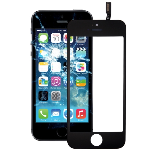 Touch Panel with Front LCD Screen Bezel Frame & OCA Optically Clear Adhesive for iPhone 5S(Black)