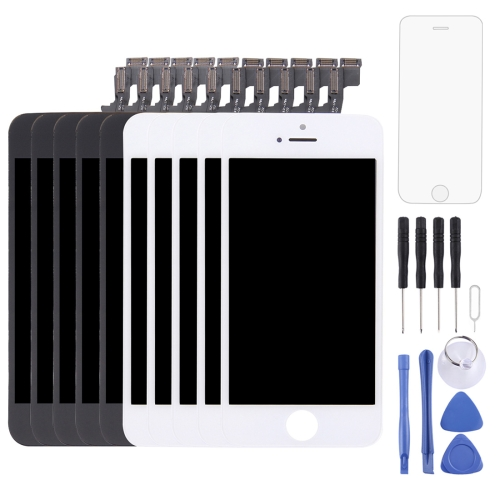 5PCS Black + 5 PCS White LCD Screen and Digitizer Full Assembly for iPhone 5S