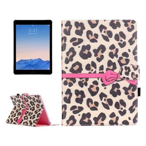 Buy For iPad Air 2 / iPad 6 Yellow Leopard Pattern Horizontal Flip Leather Case with Holder & Card Slots & Wallet for $4.68 in SUNSKY store