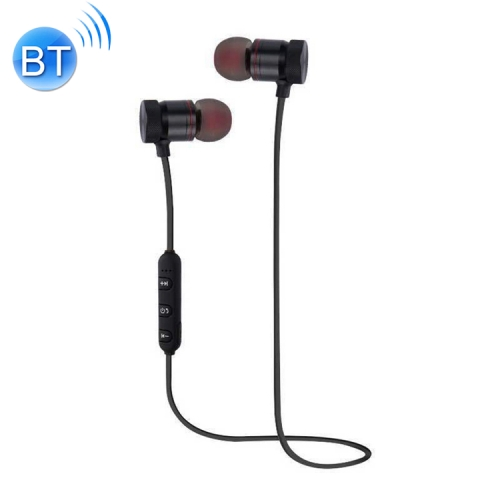 Magnetic Suction Wireless Bluetooth In-Ear Headphone Sports Headset with Mic, For iPhone, Galaxy, Huawei, Xiaomi, LG, HTC and Other Smart Phones, Bluetooth Distance: 10m(Black)