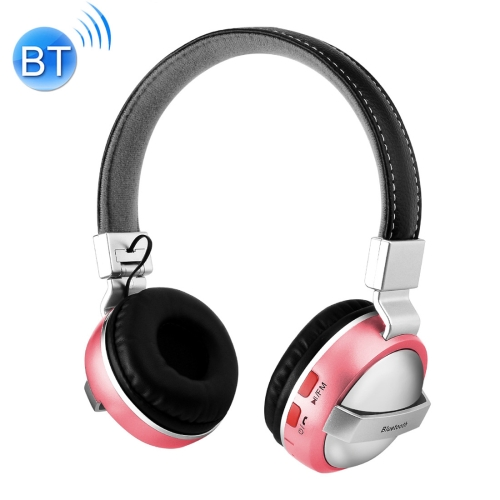 BTH-868 Stereo Sound Quality V4.2 Bluetooth Headphone, Bluetooth Distance: 10m, Support 3.5mm Audio Input & FM for iPhone, Samsung, HTC, Sony and other Smartphones (Pink) hl good quality original wireless headset bluetooth headphone headband headset with fm tf led indicators for iphone cell phone