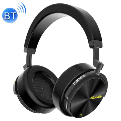 Bluedio T5S Bluetooth Version 5.0 Headset Bluetooth Headset Supports Headset Auto Play (Black)