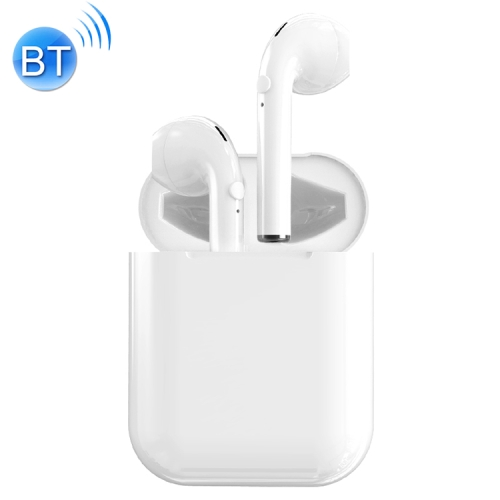 i9 Wireless TWS Sport Bilateral Stereo Bluetooth 5.0 Headset with Charging Box, Push-button Version(White)