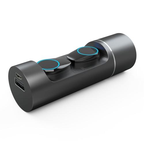 JAKCOM TWS Bluetooth 5.0 Multi-function Waterproof Wireless Bluetooth Headset(Black)