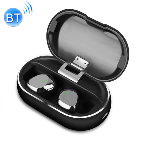 X26 DC 5V TWS IPX7 Waterproof Bluetooth 5.0 Wireless Touch Bluetooth Earphone with Charging Box, Support HD Call (Black)