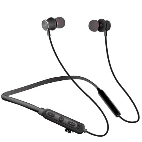 MG-G24 Bluetooth 4.2 Sport Wireless Bluetooth Earphone, Support Card(Black)