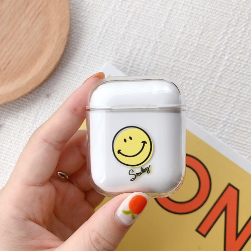 Smile Face Pattern Shockproof Coloured Drawing PC Protective Case for Apple AirPods