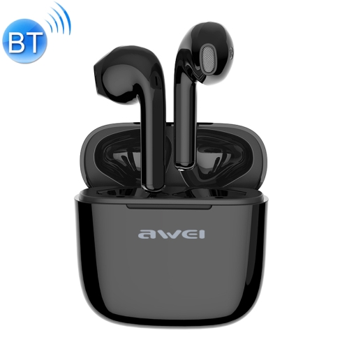 awei T26 Bluetooth V5.0 Ture Wireless Sports Headset with Charging Case(Black)