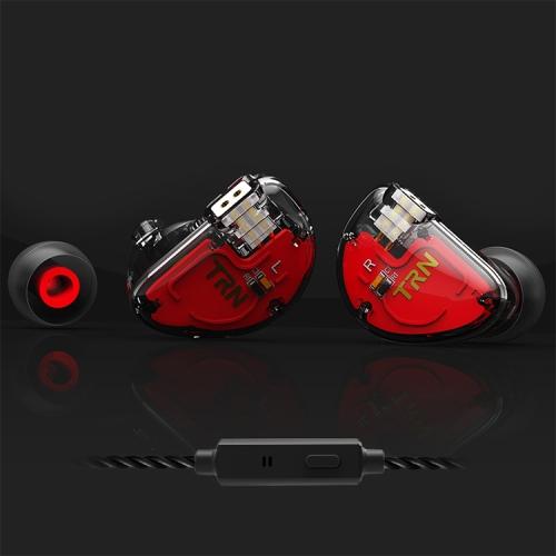 TRN V30 HiFi In Ear Wired Earphone 0.75mm 2Pin Detachable Cable Earphone, with Mic(Black)
