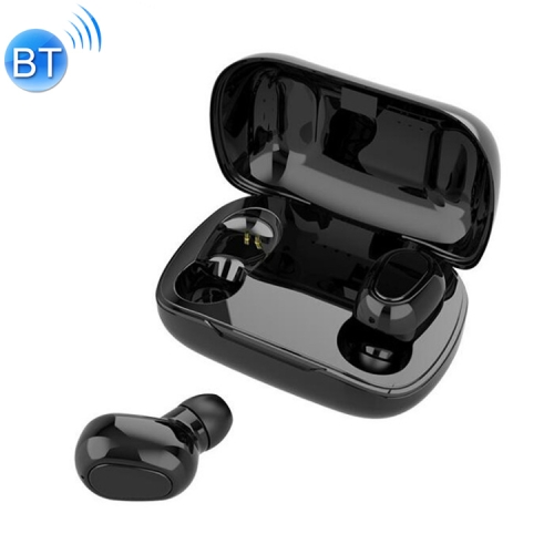 L21 9D Sound Effect Bluetooth 5.0 Wireless Bluetooth Earphone with Charging Box, Support for HD Calls (Black)