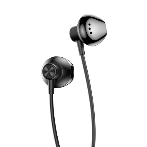 ROCK ES02 Semi In Ear Design Stereo Earphone (Black)