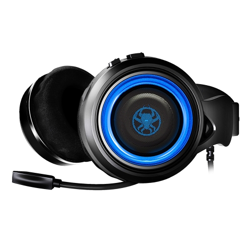 PLEXTONE G600 GameDAC Gaming Headphone Stereo PC Headset Wired USB Gamer Headphones with Mic(Blue)