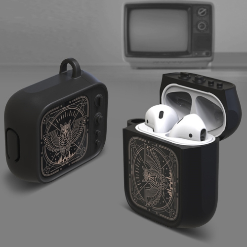 Wireless Earphones Shockproof Silicone Protective Case for Apple AirPods 1 / 2 (Black)