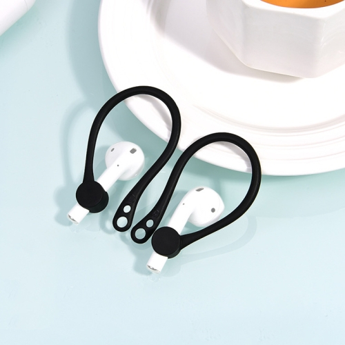 Wireless Headphones Lanyard Anti-lost Headphones for Apple AirPods 1 / 2 (Black)