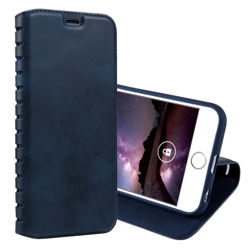 Buy For iPhone 6 & 6s PU Retro Texture with Absorption Horizontal Flip Leather Case with Holder & Card Slots, Blue for $4.19 in SUNSKY store