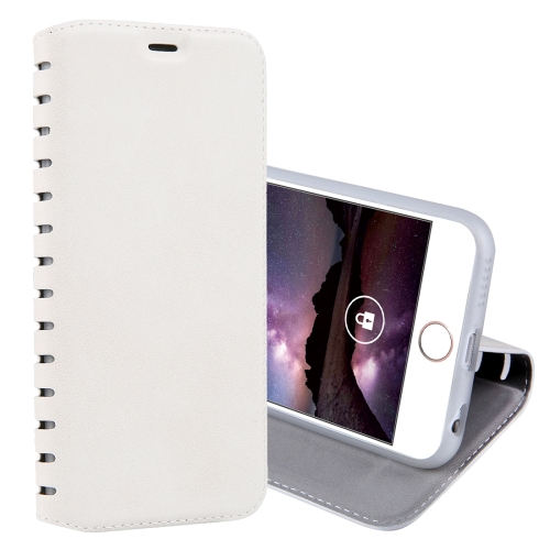 Buy For iPhone 6 & 6s PU Retro Texture with Absorption Horizontal Flip Leather Case with Holder & Card Slots, White for $4.19 in SUNSKY store