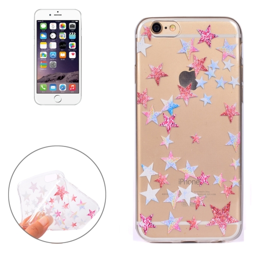 Buy For iPhone 6 & 6s Colorful Stars Pattern Soft TPU Protective Case for $1.11 in SUNSKY store