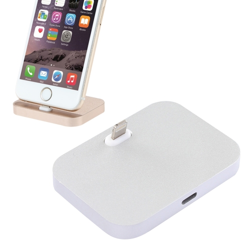 8 Pin Stouch Aluminum Desktop Station Dock Charger for iPhone 6 & 6s, iPhone 6 Plus & 6s Plus, iPhone 5 & 5S & 5C & SE(Silver)