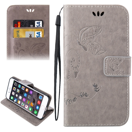 Buy For iPhone 6 & 6s Crazy Horse Texture Printing Horizontal Flip Leather Case with Holder & Card Slots & Wallet & Lanyard, Grey for $2.43 in SUNSKY store
