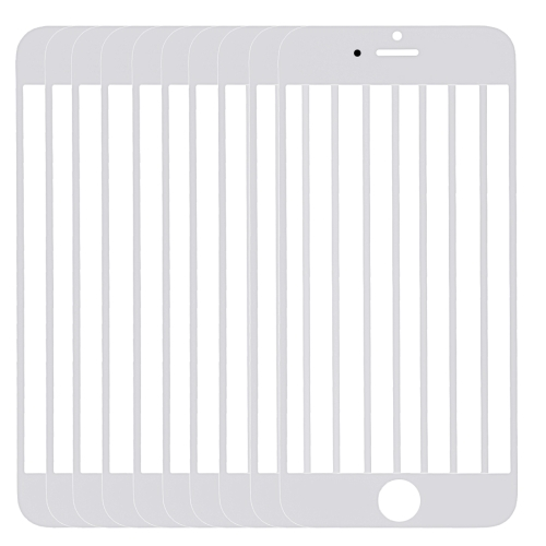 10 PCS for iPhone 6 Front Screen Outer Glass Lens(White)