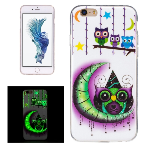 Buy For iPhone 6 & 6s Noctilucent Moon And Owls Pattern IMD Workmanship Soft TPU Back Cover Case for $1.34 in SUNSKY store