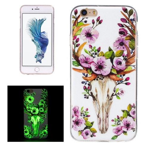 Buy For iPhone 6 & 6s Noctilucent Sika Deer Pattern IMD Workmanship Soft TPU Back Cover Case for $1.34 in SUNSKY store