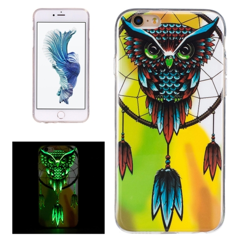 Buy For iPhone 6 & 6s Noctilucent Owl Pattern IMD Workmanship Soft TPU Back Cover Case for $1.34 in SUNSKY store
