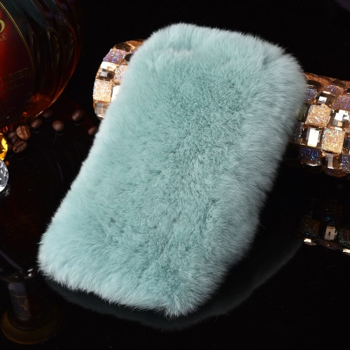 Buy For iPhone 6 & 6s Genuine Rabbit Hair Diamond Encrusted Thickened PC Protective Case, Green for $3.75 in SUNSKY store