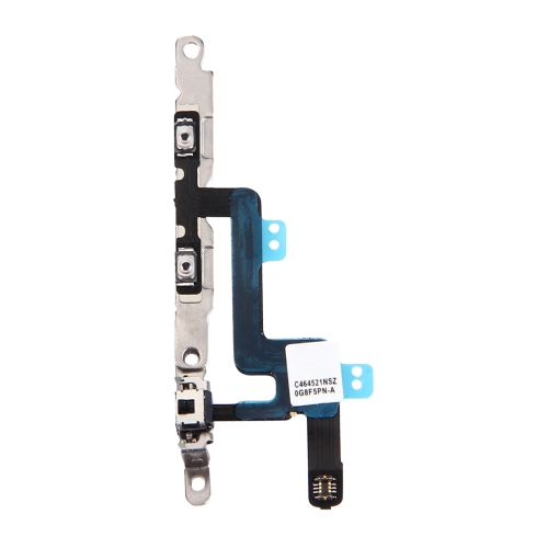 Volume Button & Mute Switch Flex Cable with Brackets for iPhone 6