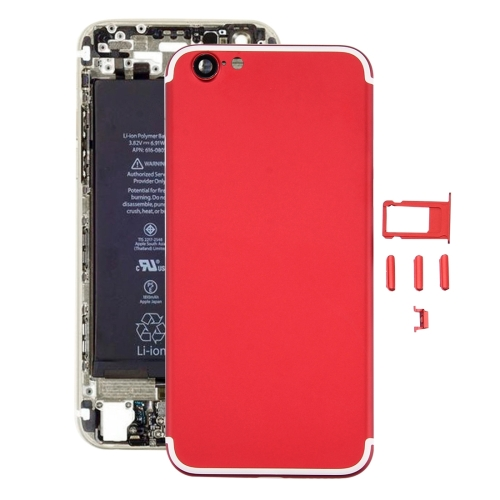Buy iPartsBuy 5 in 1 Full Assembly Metal Housing Cover with Appearance Imitation of iPhone 7 for iPhone 6, Including Back Cover (Big Camera Hole) & Card Tray & Volume Control Key & Power Button & Mute Switch Vibrator Key, No Headphone Jack (Red+White) for $19.90 in SUNSKY store