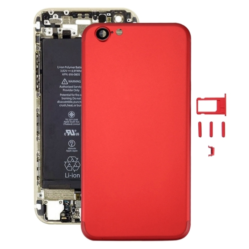 Buy iPartsBuy 6 in 1 Full Assembly Metal Housing Cover with Appearance Imitation of iPhone 7 for iPhone 6, Including Back Cover (Big Camera Hole) & Card Tray & Volume Control Key & Power Button & Mute Switch Vibrator Key & Sign, No Headphone Jack, Red for $19.90 in SUNSKY store