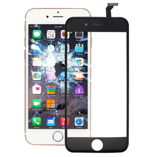 Touch Panel with Front LCD Screen Bezel Frame & OCA Optically Clear Adhesive for iPhone 6(Black)