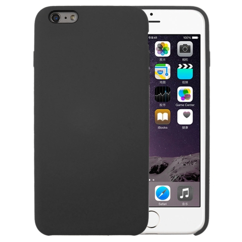 For iPhone 6 & 6s Pure Color Liquid Silicone + PC Protective Back Cover Case(Dark Gray) фото