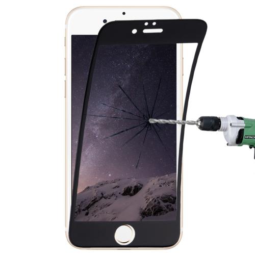 0.1mm 9H Full Screen Flexible Fiber Tempered Glass Film for iPhone 6 & 6s(Black)